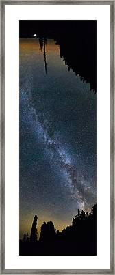 Overhead Pano Of Milky Way At The Pinacles View 2 Framed Print by Jakub Sisak