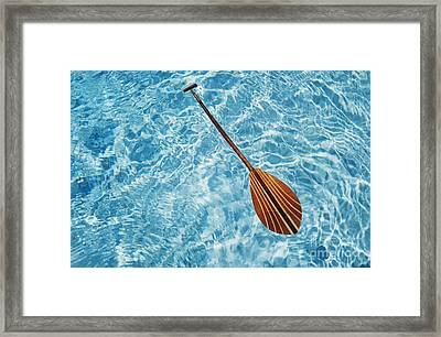 Overhead View Of Paddle Framed Print by Joss - Printscapes