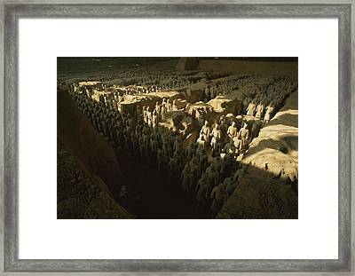 Overhead View Of The Terra-cotta Framed Print by O. Louis Mazzatenta