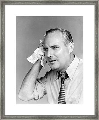 Overheated Man Framed Print by H. Armstrong Roberts/ClassicStock