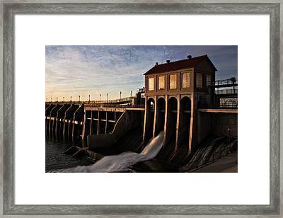 Overholser Dam Framed Print