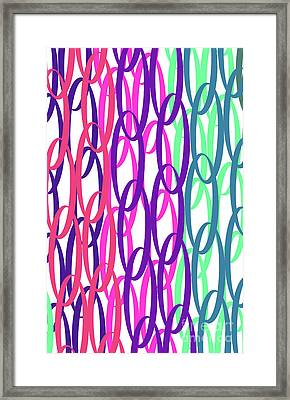 Overlaid Scrolls Framed Print by Louisa Knight