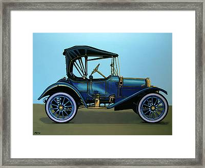 Overland 1911 Painting Framed Print by Paul Meijering