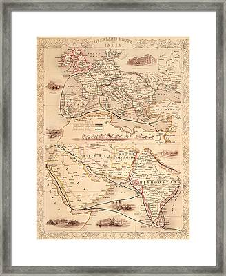 Overland Route To India Framed Print