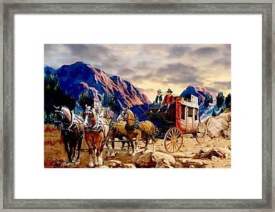 Overland Trail 3 Framed Print