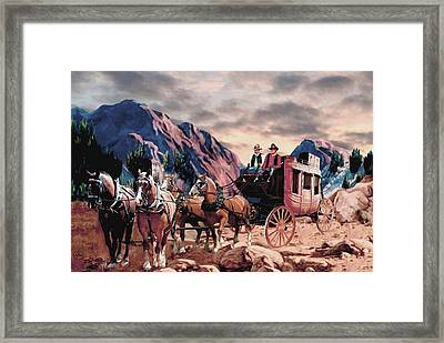 Overland Trail Framed Print by Ron Chambers