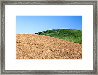 Overlapping Hills Framed Print by Todd Klassy