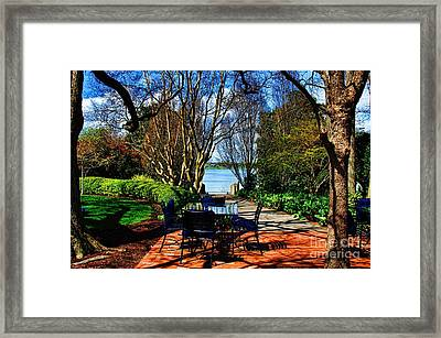 Overlook Cafe Framed Print by Diana Mary Sharpton