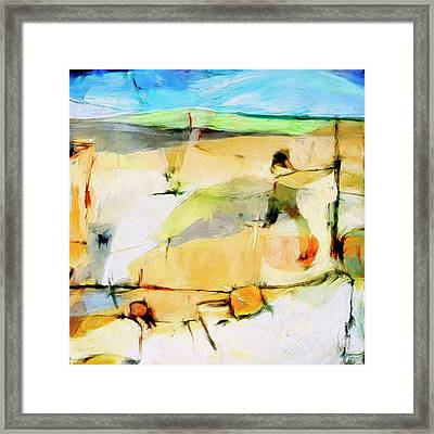 Framed Print featuring the painting Overlook by Dominic Piperata