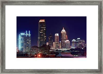 Overlooking Atlanta Framed Print