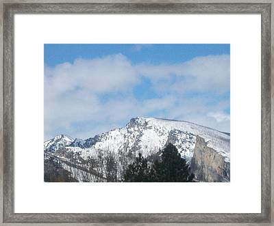 Framed Print featuring the photograph Overlooking Blodgett by Jewel Hengen