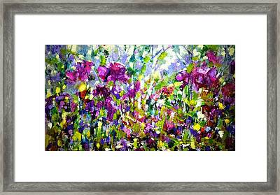 Overlooking Garden Wall Framed Print by Catherine King