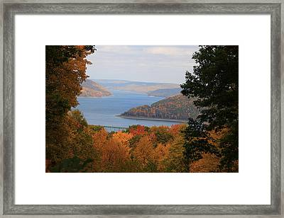 Overlooking Kinzua Lake Framed Print