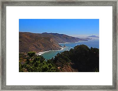Overlooking Marin Headlands Framed Print
