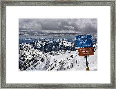 Overlooking Mineral Basin Framed Print