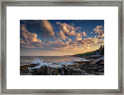 Overlooking Muscongus Bay Framed Print by Rick Berk