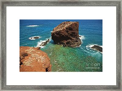 Overlooking Puu Pehe IIi Framed Print by Ron Dahlquist - Printscapes