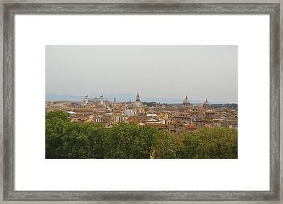 Overlooking Rome Framed Print by JAMART Photography