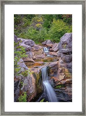 Overlooking Screw Auger Falls Framed Print