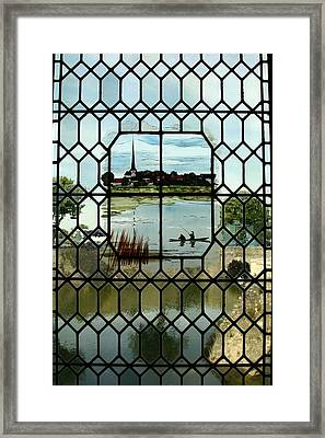 Overlooking The Loire Framed Print by Mary McGrath