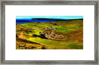 Overlooking The Scenic Chambers Bay Golf Course Framed Print