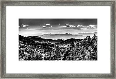 Overlooking The Southwest Framed Print