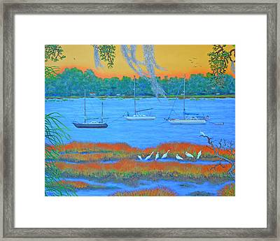 Overnight In Beaufort Framed Print