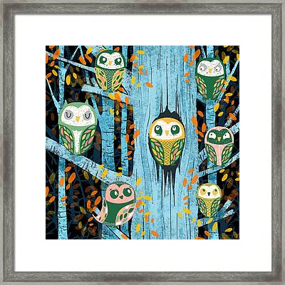 Overnight Owl Conference Framed Print