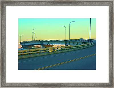 Overpass Framed Print by Paul Kloschinsky