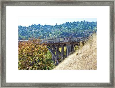 Overpass Underpinnings Framed Print