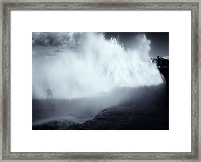 Overshadowed By Nature Framed Print by Mike  Dawson