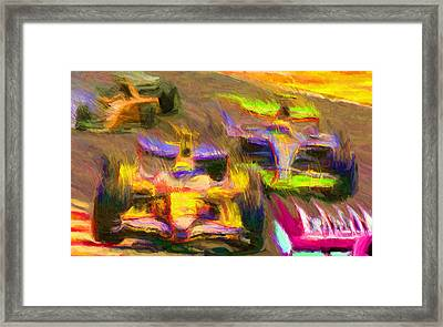Overtaking Framed Print by Caito Junqueira