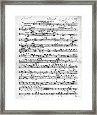 Overture To Egmont Framed Print