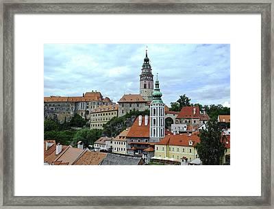 Overview Of Cesky Krumlov Framed Print by Kirsten Giving
