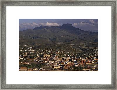 Overview Of Town Of Trinidad Framed Print by Phil Schermeister
