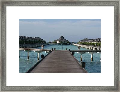 Overwater Bungalows Framed Print by Andrei Fried