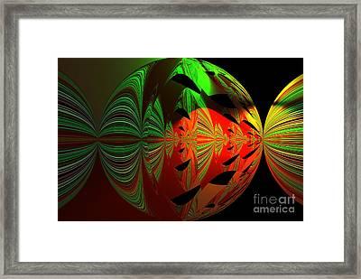 Art Green, Red, Black Framed Print