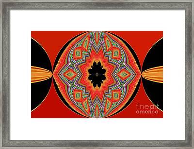 Unique And Colorful Orange Black Yellow Design Framed Print