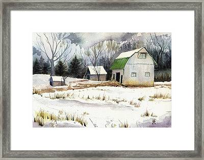 Owen County Winter Framed Print by Katherine Miller