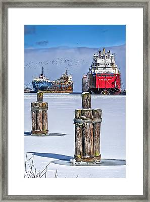 Owen Sound Winter Harbour Study #4 Framed Print
