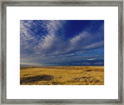 Owens Lake And The Coso Mountains Framed Print