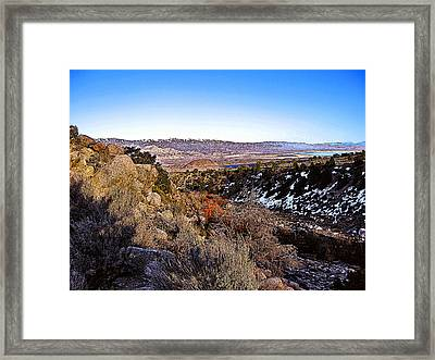Framed Print featuring the painting Owens Lake Winter by Larry Darnell