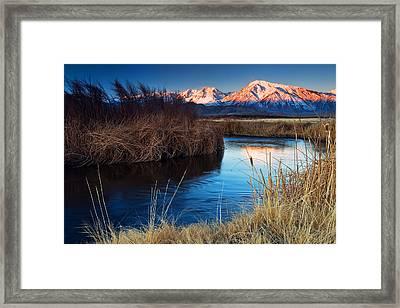 Owens River Sunrise Framed Print by Nolan Nitschke