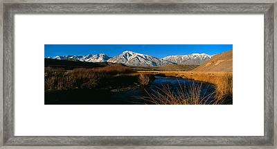 Owens River Valley Bishop Ca Framed Print by Panoramic Images