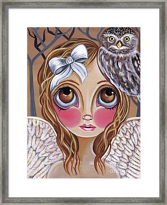 Owl Angel Framed Print by Jaz Higgins