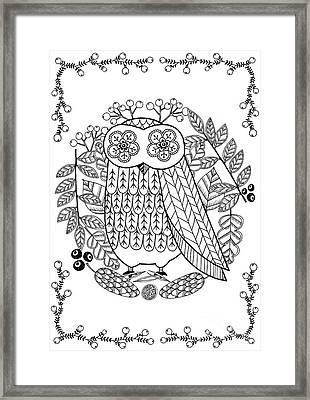 Owl Framed Print by Anne Vasko