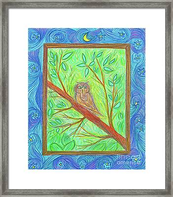 Owl At My Window By Jrr Framed Print by First Star Art