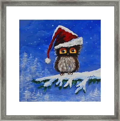 Owl Be Home For Christmas Framed Print