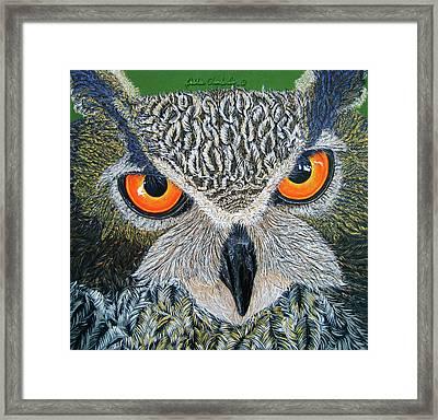 Owl Capone Framed Print