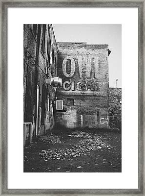 Owl Cigar- Walla Walla Photography By Linda Woods Framed Print